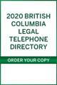 2020 British Columbia Legal Telephone directory