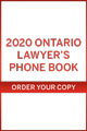 2020 Ontario's Legal Telephone directory